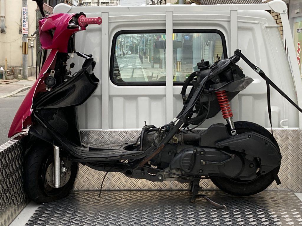 アドレスV125事故車・有料処分